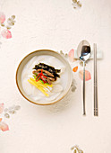 Tteokguk (Rice-cake soup, Korean Food)