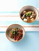 Tuna Salad and Deonjang Soup (Korea)