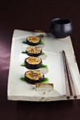 Fried aubergines (Korean Food)