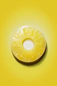 Ananasscheibe (Draufsicht)