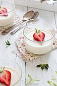 Strawberry Panna Cotta
