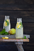 Homemade pear lemonade