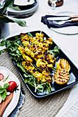 BBQ turmeric chicken skewers