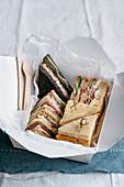Clubsandwiches aus verschiedenen Brotsorten
