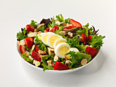 Strawberry salad with Berries and egg