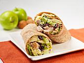 Waldorf wraps with turkey meat