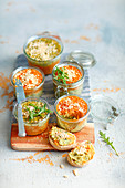 Vegetarian chickpeas and lentils pate