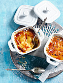 Crema Catalana with oranges