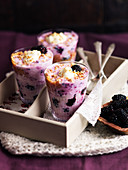 Cranachan with blackberries, cream and granola