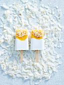 Sugar-Free Coconut and Mango Popsilce