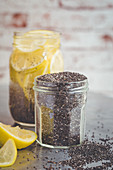 Chia seeds and lemonade