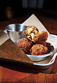Fried cheese balls with jalapeno and bacon