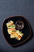 Sanjeok (meat and vegetable broiled on skewer, Korea)