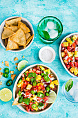 Pico de gallo with pineapple