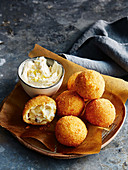 Smoked mackerel croquettes