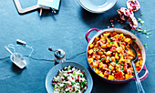 Couscous and Moroccan vegetable tagine