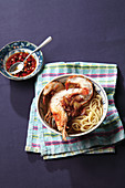 Prawns with noodles (Asia)