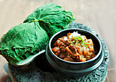 Gangdoenjang (Korean soybean paste with pumpkin leaves)