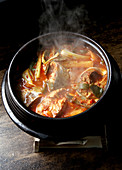 Godeungeo jjigae (Korean spicy mackerel stew)