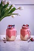 Banana strawberry ice cream