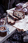 Rustic bread with nuts