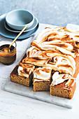 Banoffee sheet cake
