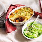 Shepherds pie with lamb and cabbage