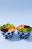 Vegetarian bowl with sweet potatoes