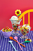 Honey Buttermilk Ice-cream with Fruit Salsa for Kids