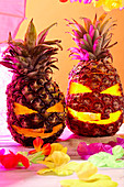 Halloween pineapple lanterns