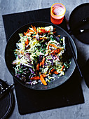 Grilled coleslaw with pickled cabbage and Yuzu mayonnaise