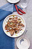 Lamb Chops with Yogurt, Garlic and Chili Pepper