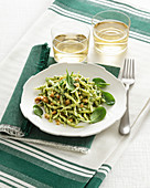 Trofie Pasta with Tender Spinach Pesto