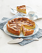 Apple cake with orange liquor