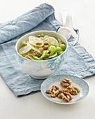 Jerusalem Artichoke with Nuts and Celery Salad