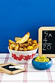 Potato Wedges with Guacamole