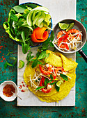 Vietnamese Pancakes with Prawns