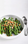 Garlicky Beans with Pine Nuts