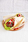 Mexican beef wrap (gluten free)
