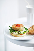 Lentil and Bean Burger with Chilli Tomato Relish