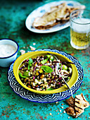 Barley with Pistachio and Green Olives