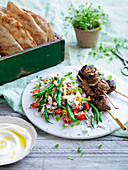 Indian-Spiced Lamb with Bean and Coconut Salad