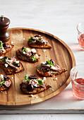Lamb, Potato and Fetta Party Pizzas
