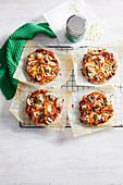 Sausage and Mushroom Pizzas