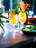 Orange and basil Pimms