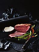 Corned Beef vom Wagyu Rind mit Meerettichcreme
