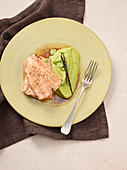 Salmon with vanilla butter and fava bean puree