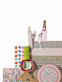 Paper table decorations and cake cases