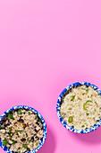 Cranberry-Couscous und Gewürzreis