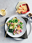 Ham, pea and parmesan salad